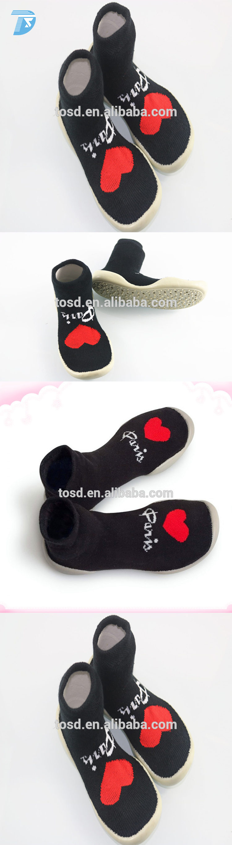 2017 Newest Baby Socks Non Slip With Rubber Soles sock Shoes Wrap