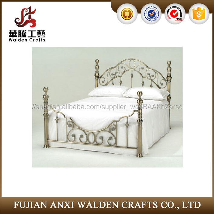 Efecto de latón antiguo de metal marco de la cama doble y cama king ...