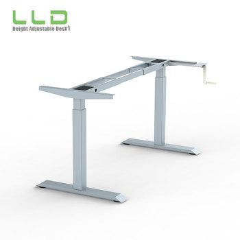 LingLingDao Manual Crank Height Adjustable Standing Desk