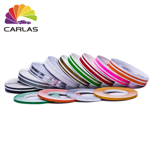 CARLAS 0.635CMx12.2M Customizable Self Adhesive Vinyl Rolls Stripe Car Sticker
