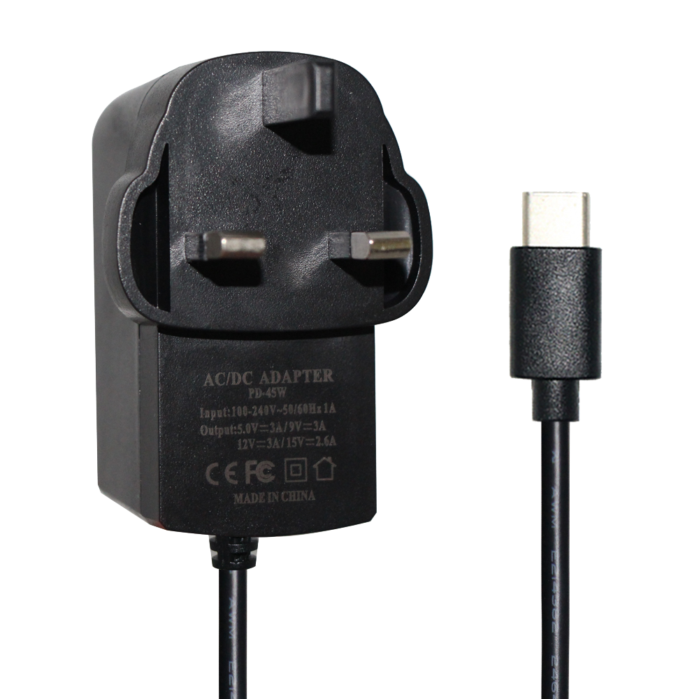 12V 3A power adapter with EU US AU UK plugs 36W wall mounted power adapter