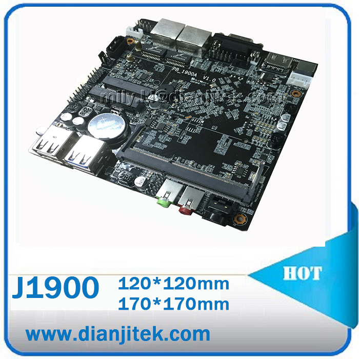 2017 manufactur price Industrial motherboard 2 lan 12*12cm J1900 mini pc low cost computer Main board