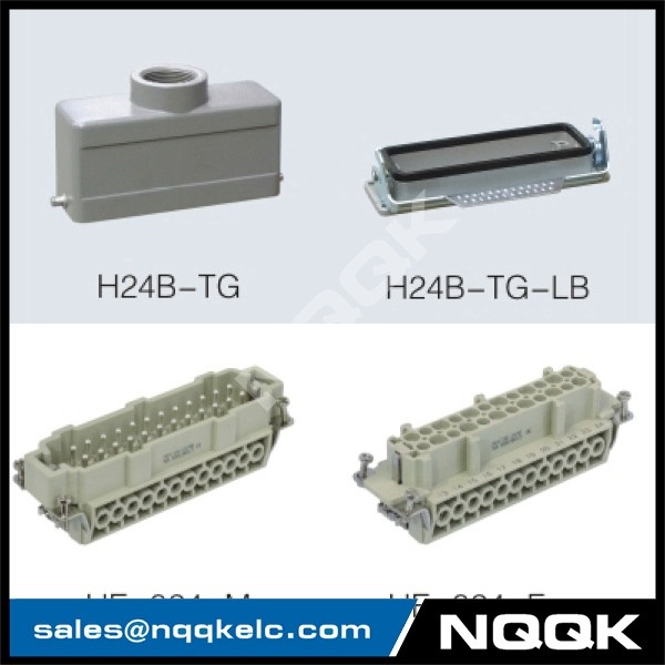 2 24 pin Screw spring crimp terminal Inserts surface mouned heavy duty sockets connector with 1 levers.jpg
