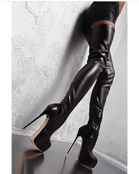 080ed0e7b32 Sexy Boots Fashion Platform Round Toe Black Women Over Knee High Heel Boots  - Buy Over Knee High Heel Boots,High Heel Women Knee High Boots,Sexy ...