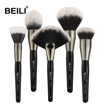 Usa Free Shipping Beili 5pcs Professional Black Makeup Brushes Set