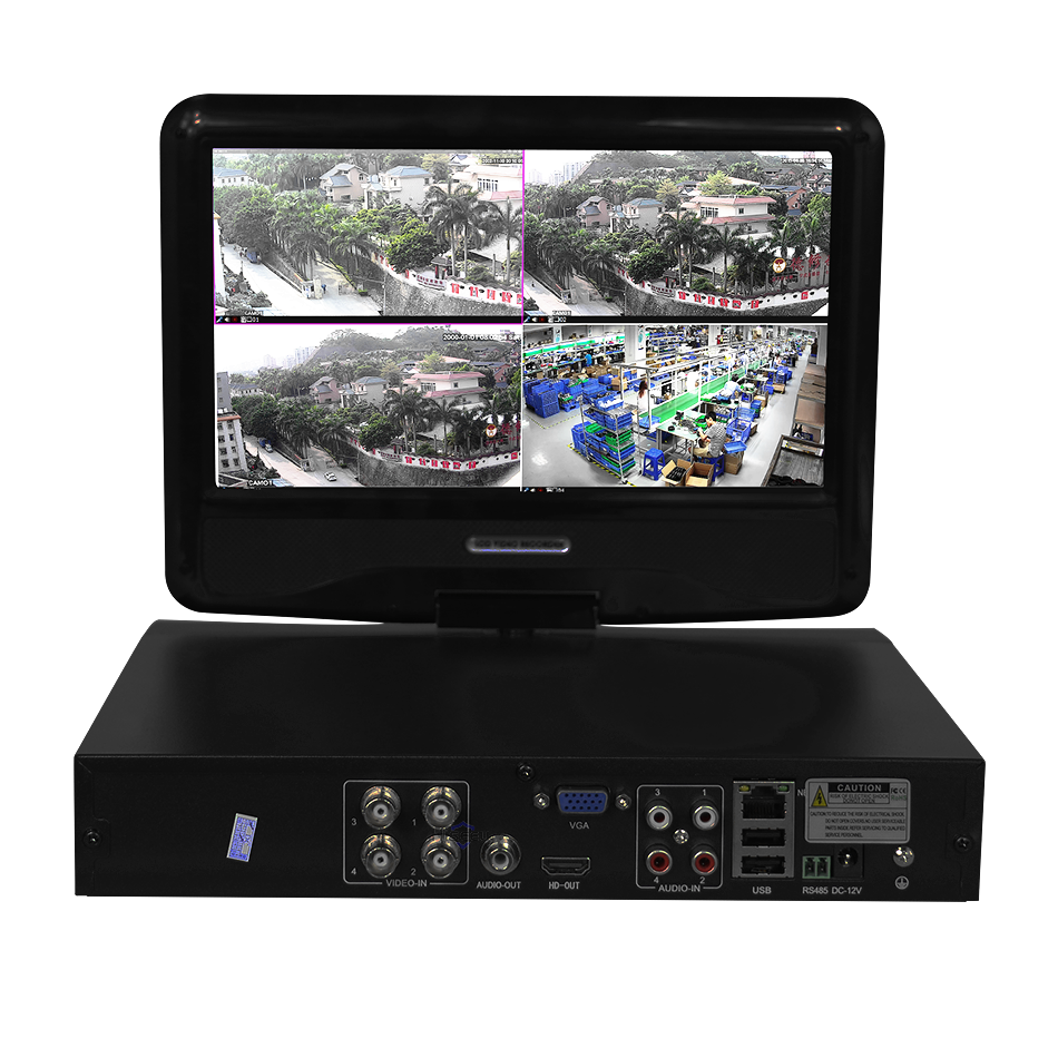 H264 <strong>DVR</strong> Recorder 4 channel <strong>DVR</strong> with Built-in LCD Monitor