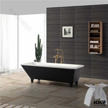 2 Person Soaking Tub, Freestanding Modern Bathtub