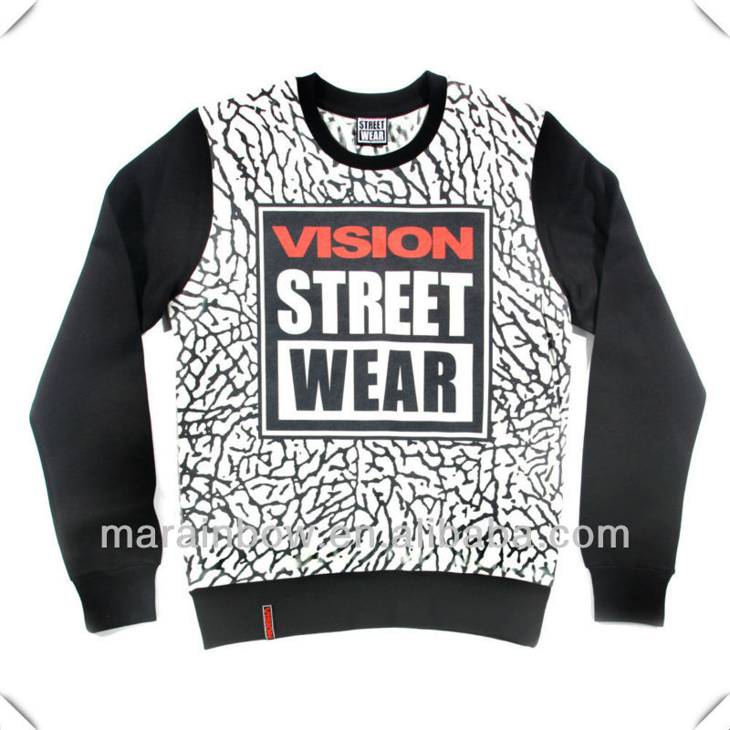 Wholesale Crewneck Sweatshirts With Leather Sleeve And Sublimation ...