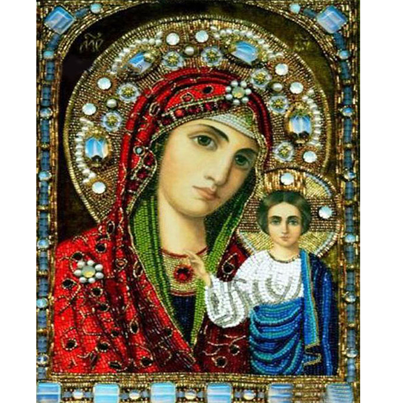 Diamond Embroidery islamic religion with baby jesus and marry painting