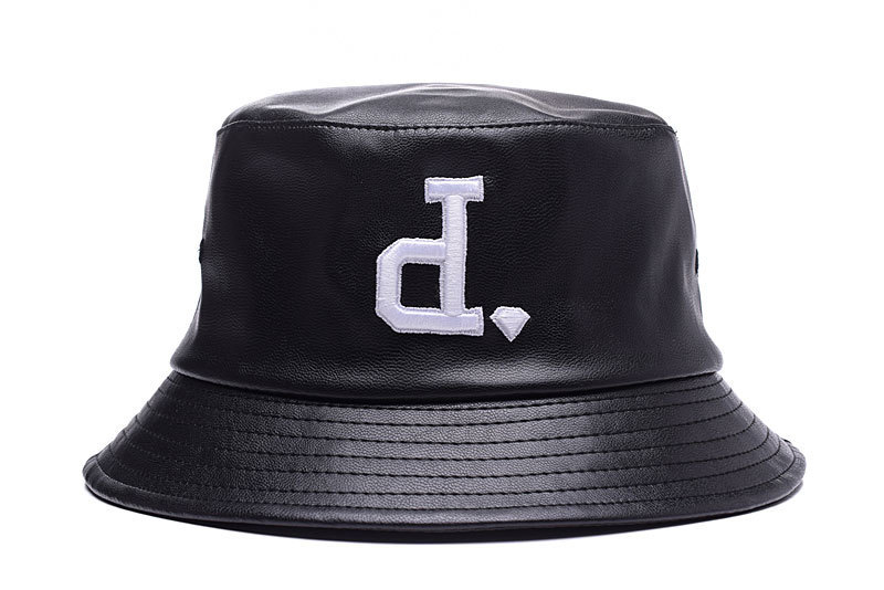 Get Quotations · 2015 New Hip Hop Style Brand Name Diamond Full Leather Bucket  Hats Men s Fashion Flat Top d1db4dd633c