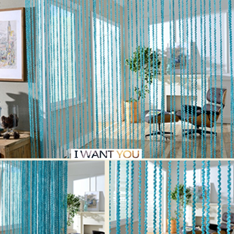 Blue Door Curtain Hometextiles French Luxe Salon Factory Direactly Latest American Fashion Designs