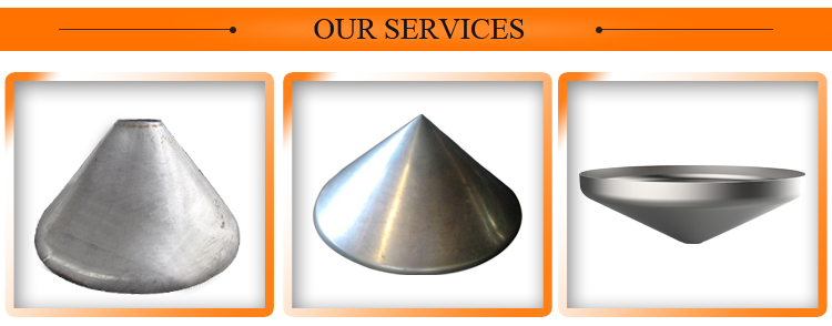 304 stainless conical head cone for tank
