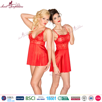 wholesale china manufacturer mature women sexy lingerie red sex nightdress woman sexy nightwear