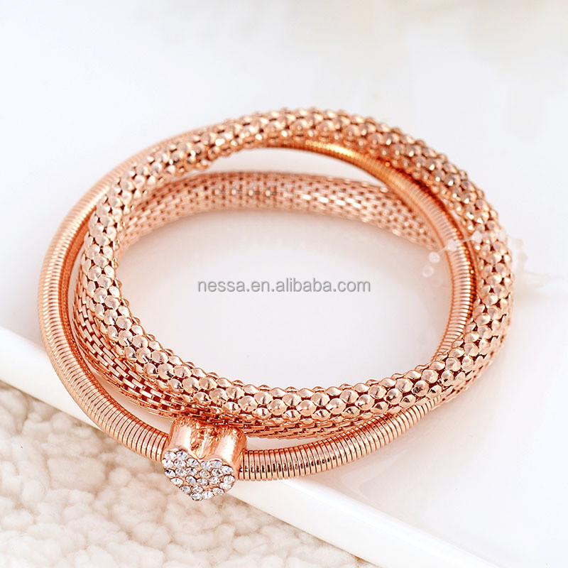 Our rose gold bracelets embody this with modern looks and designer styles. Shop our rose gold bangles, bolo bracelets, tennis bracelets and more for a fashionable piece you'll never get tired of wearing. Diamonds and colored gemstones such as rubies look simply dazzling as rose gold bracelets.