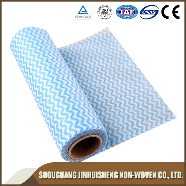Super absorbent spunlace cleaning wipes for clothes, printed nonwoven fabric cleaning cloth in roll/absorbent cloth