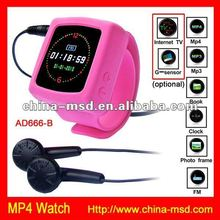 Colorful watch belt item MP3/ MP4 wrist watch support 8GB card