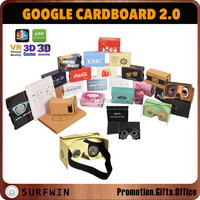 CUSTOM assembled cardboard VR google cardboard 2.0 virtual reality glasses for 3.5-6