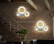 Factory direct sale tree fancy circle led wall lamp for bar/balcony/restaurant