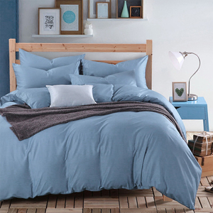 Soild color grey bed linen luxury soft bamboo bed sheet bedding set