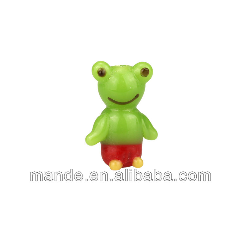 Frog murano glass beads design for Christmas promotion