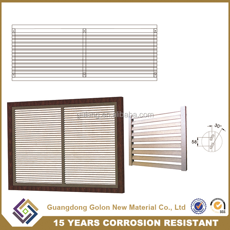 wholesale Aluminum Material and Vertical Opening Pattern interior security aluminium window shutters