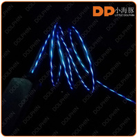EL usb cable for phone charger glowing usb data cable with micro or 8 pin connector for portable media player