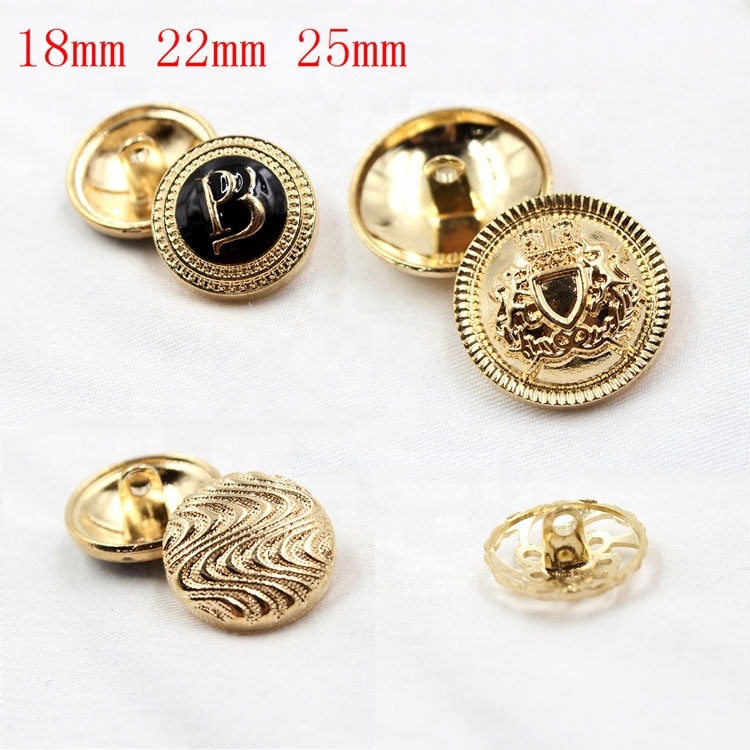 18mm 22mm 25mm Round Custom logo design stock metal snap buttons for clothing