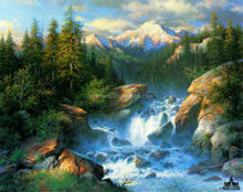Natural Scenery Beautiful Mountain And River Painting