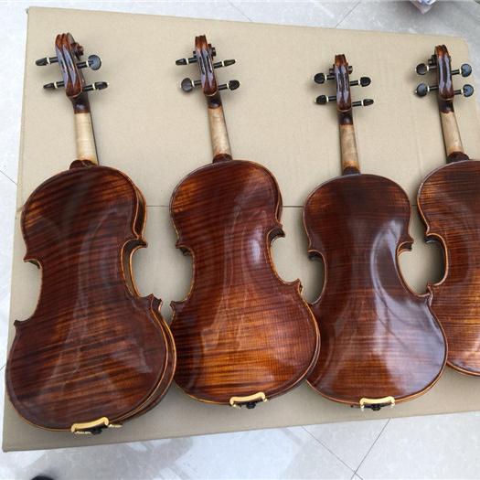 2 Pcs Of Sports & Entertainment 4/4 Size Violin Fingerboard Ebony Fingerboard Black