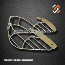 Stainless Steel Face Mask Shield for Cricket Helmet, Steel Face Guard for American Football Helmet
