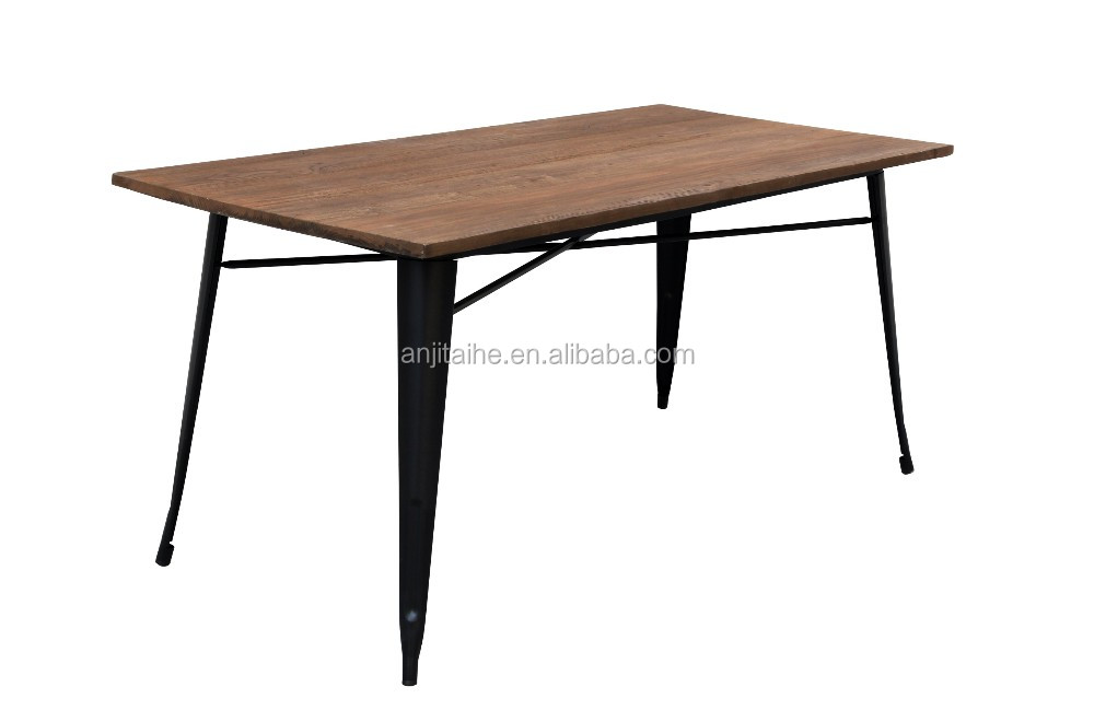 Th t1003w solid wood metal legs coffee table bar furniture for Buy coffee table legs
