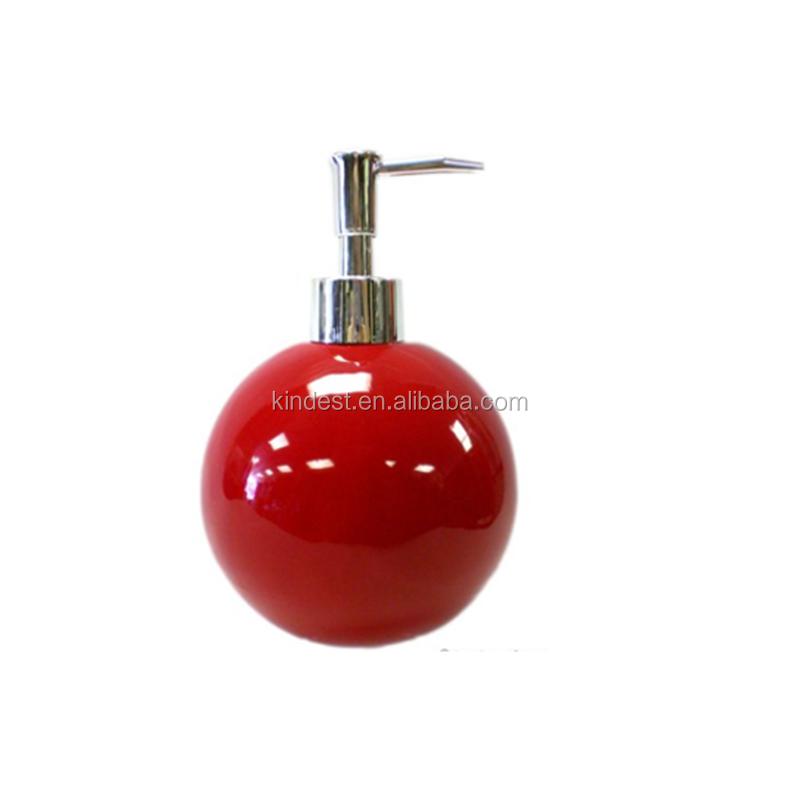 Red Ceramic Kitchen Soap Pump Lotion Sink Dispenser Sponge Scrubby Holder -  Buy Ceramic Kitchen Soap Pump Lotion,Soap Pump Lotion Sink Dispenser,Red ...