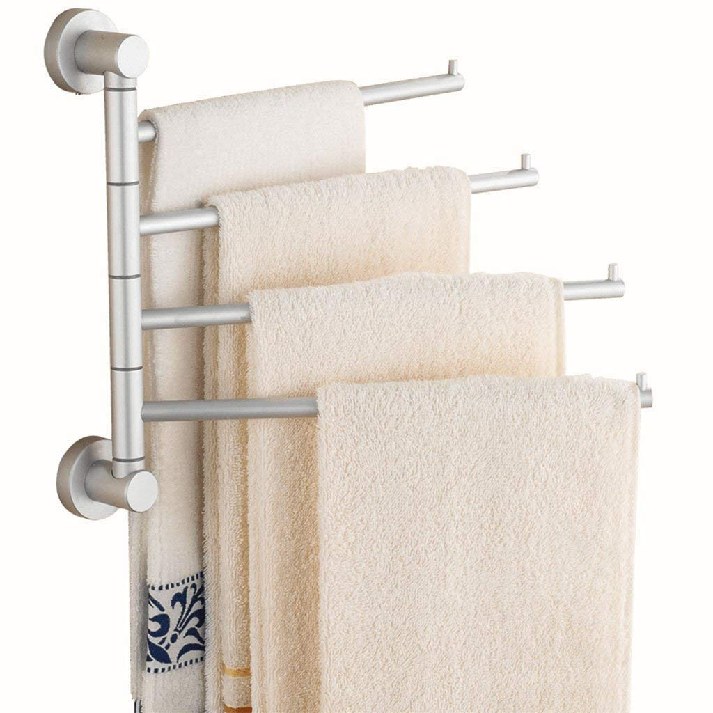 EQEQ Towel Holder Turn The Space of The Solid Aluminum of The Activity of The Activity Towel Rack Towel Rack