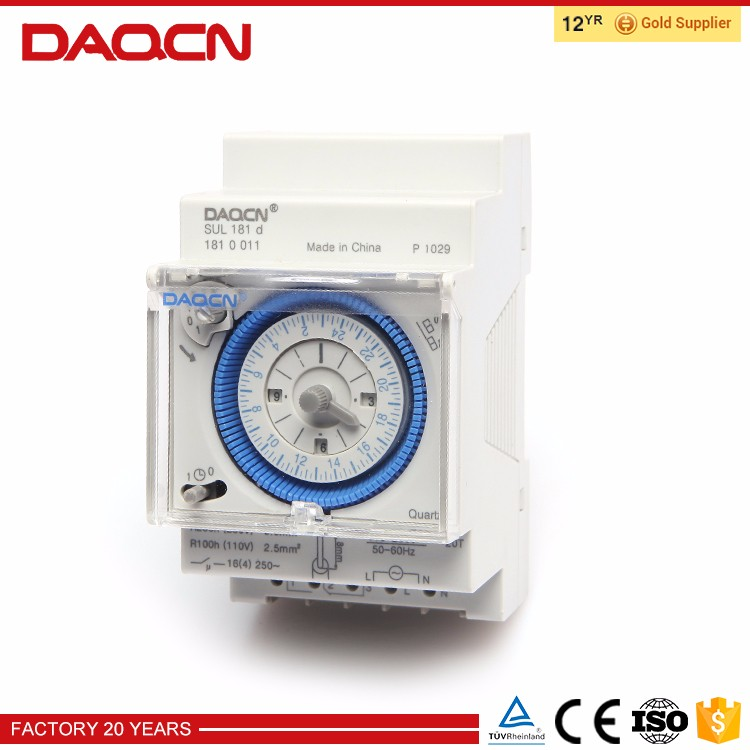 Daqcn Manual Mechanical Timer,Time Switch Sul181d For Swimming Pool - Buy  Manual Mechanical Timer,Mechanical Timer,24 Hour Timer Product on ...