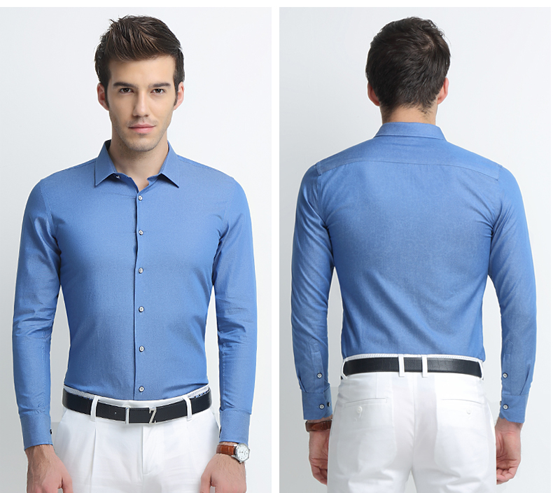 Business Men Banded Collar Cotton Shirt Latest Casual Shirt ...