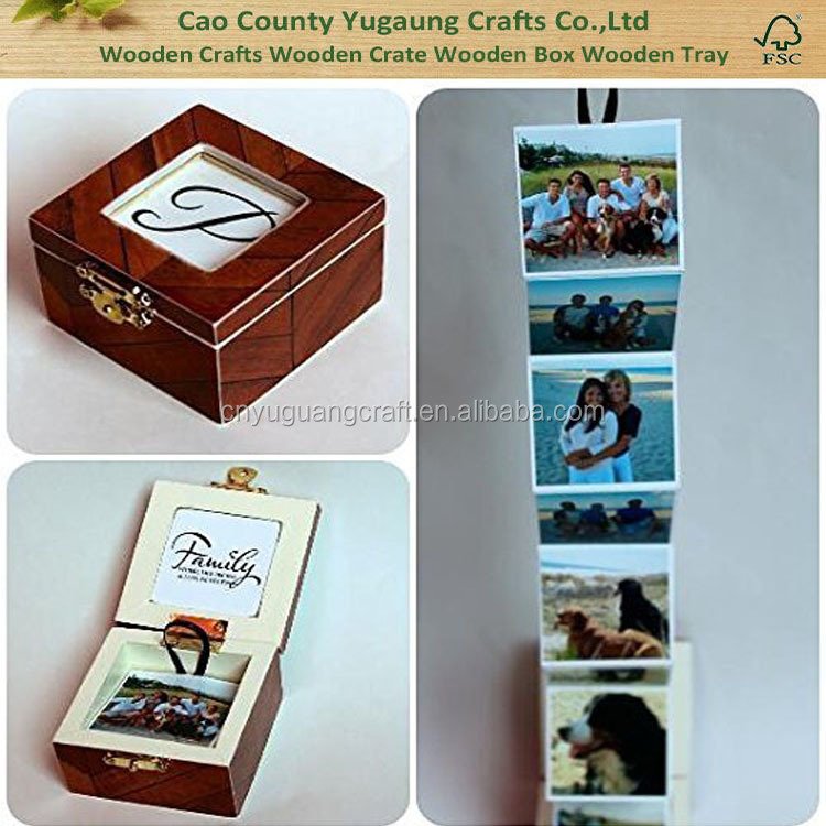 China Gold Manufacturer High Quality Custom Small Wood Photos Box