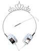 Crown Wired Headphones, Custom Diamonds Premium Kids Earphone Cute