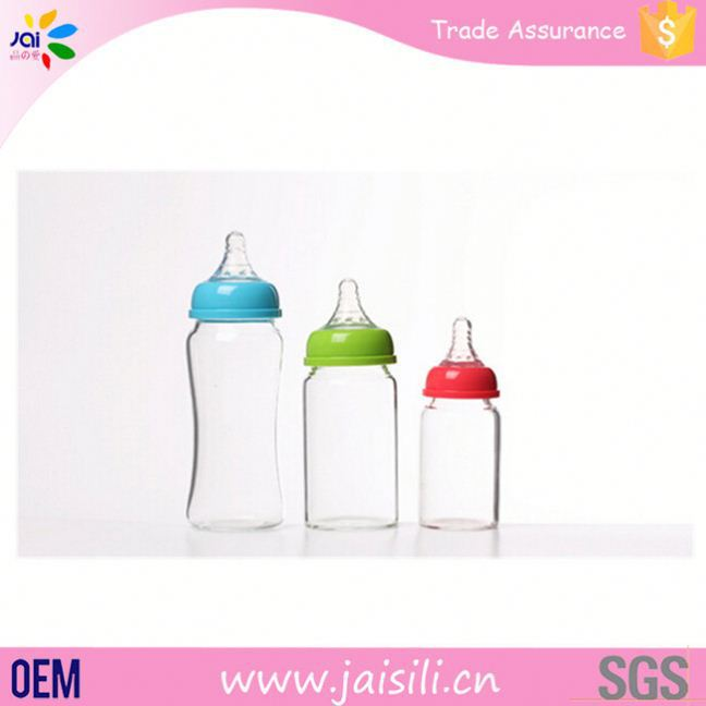 Guangzhou wholesale eco-friendly wide neck baby glass feeding bottle disposable