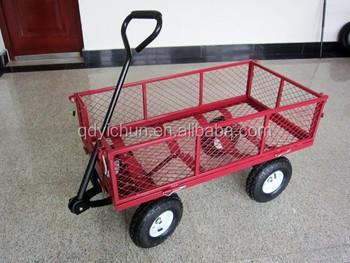 Garden Carts. 4 Wheels , Heavy Duty Garden Carts Wagon
