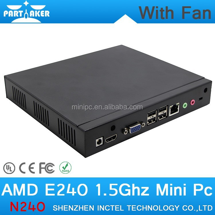 4G RAM 32G SSD OEM Fan Mini PC Small Desktop PC Mini PC 12v