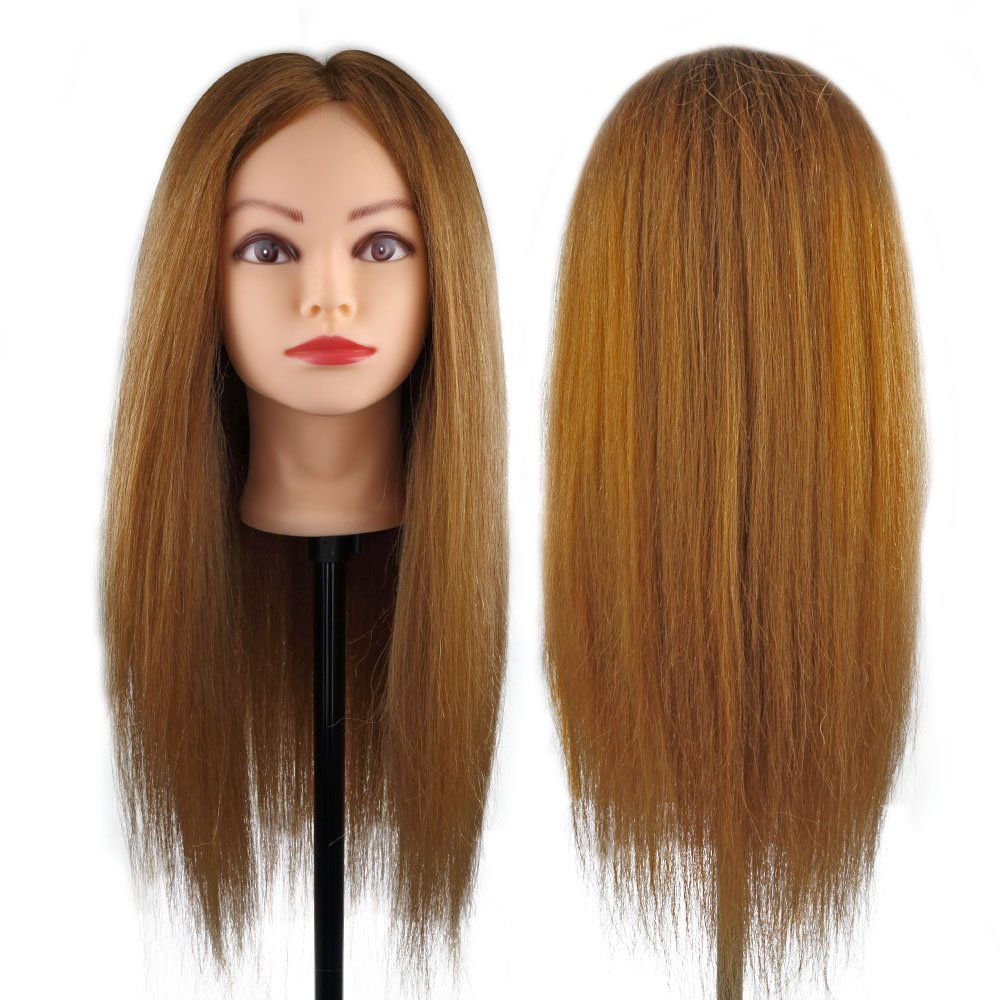 Get Quotations Coastacloud 26 99 Real Human Hair Hairdressing Mannequin Manikin Training Practice Heads Styling Cutting