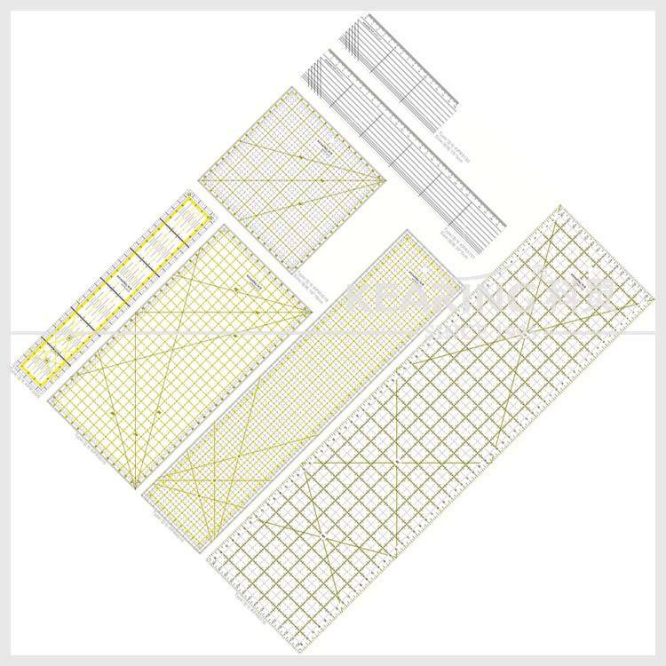 Non slip Clear Patchwork Ruler & Quilting Ruler