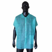 Medical use disposable PP non woven lab coats with buttons