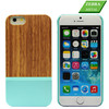 Hot selling Zebra Wood + PC handmade phone case for iphone 6 and for iphone 6 plus