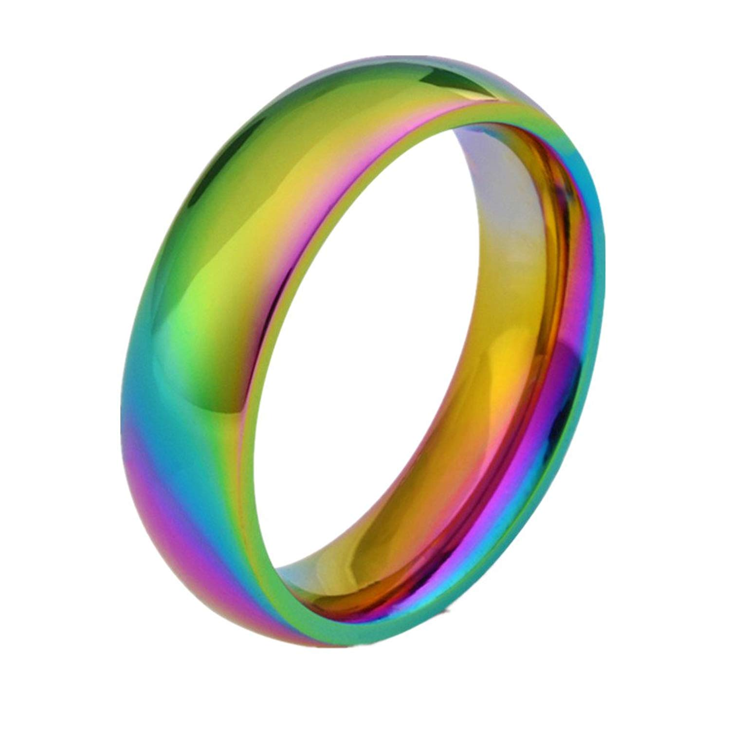 Buy Stainless Steel Titanium Wedding Band Promise Couple Rings One