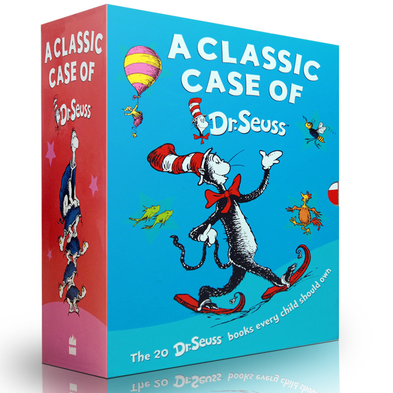 20 books/set The Wonderful World of Dr. Seuss children fun english usa Picture story books 8-11 Years