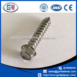 A2-70 A4-70 hex roof screws stainless 304 316