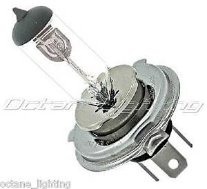 OCTANE LIGHTING One - 6 Volt Halogen Headlight Headlamp Clear Glass Light Lamp Bulb 55/60W H4 6V