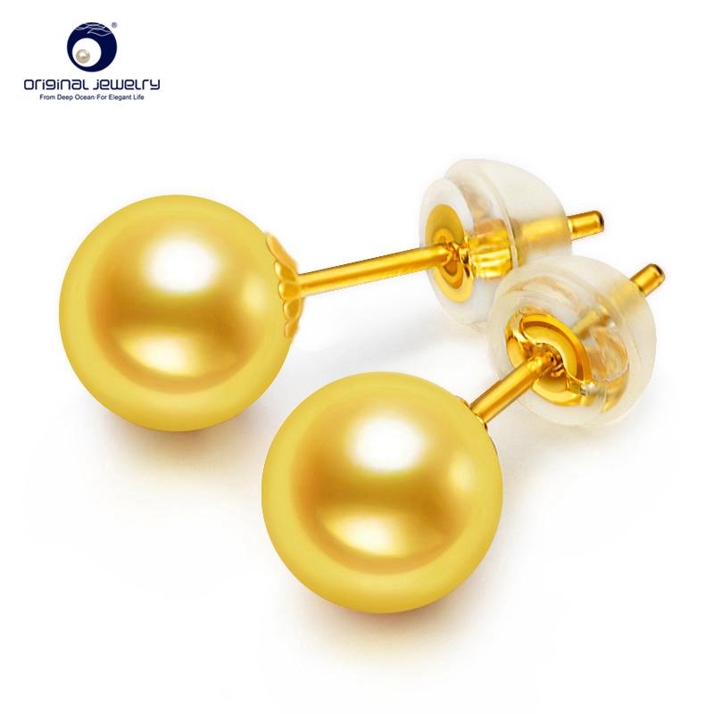 Ys Simple Design 6 5mm Akoya Seawater Pearl 18k Gold Fashion Modern Stud Earrings Designs Earring For Women