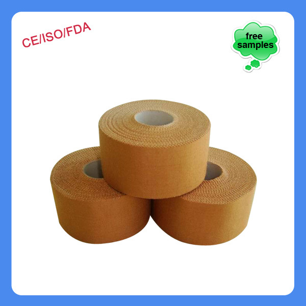OEM foot ball safety zinc oxide waterproof sports cotton rigid strapping tape